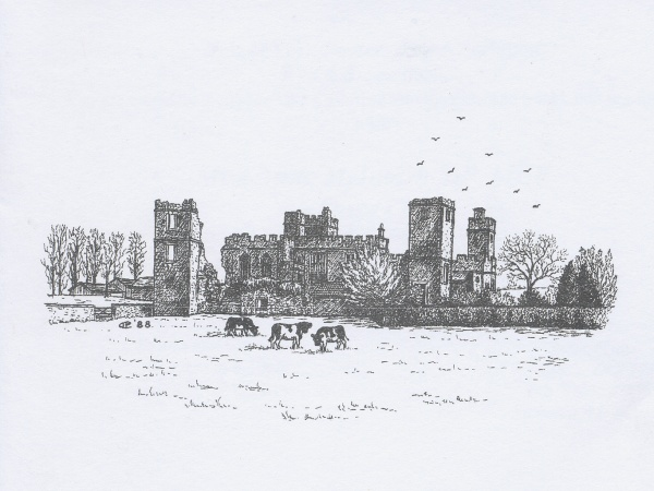 Snape Castle Drawing